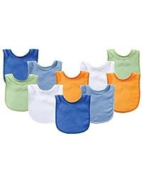 Luvable Friends - Baberos para bebé (10 unidades), Combinado azul, Una talla