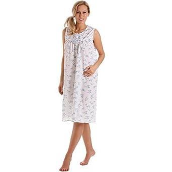 ae14492e56 Lady Olga Womens Nightdress Ladies Floral Sleeveless Nightwear Nightie  Sleepwear Plus Size 10-32 (