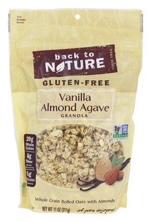 Back to Nature Gluten-Free Vanilla Almond Agave Granola 11oz (2 Pack))