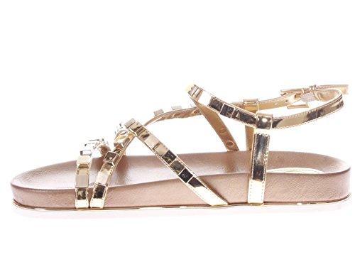 Scarpe Sandalo Guess Quadrate Donna FLCRE2LEL03 Borchie Gold Gold Clareta adzxdnqf