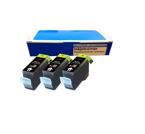 Inkjetcorner 3 New Compatible BLACK Ink Cartridge for Canon PGI-225BK Pixma iP4820 iP4920 iX6520 MG5120 MG5220 Wireless MG5320 MG6120 MG6220 MG8120 MG8220 MX882 MX892