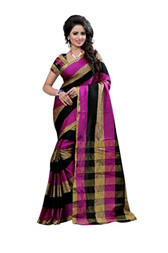 Fabattic Womens Cotton Silk Saree (CHI110_Multi-Coloured_Free Size)