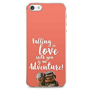 Loud Universe Adventure Quote iPhone SE Case Movie Up Love Quote iPhone SE Cover with Transparent Edges
