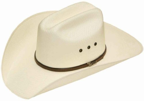 Twister Men's 5X Shantung Double S Straw Cowboy Hat Natural 6 3/4