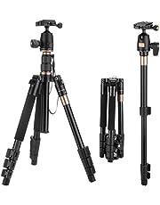 """1.30 KG 55,12""""/ 140 cm Kamera Stativ für Sony Alpha 6300/ Nikon Spiegelreflexkamera/Olympus Kamera usw, inkl. Panorama-Kugelkopf/Schnellwechselplatte/Tasche (Aluminium, Belastbarkeit: 8KG-10KG)"""