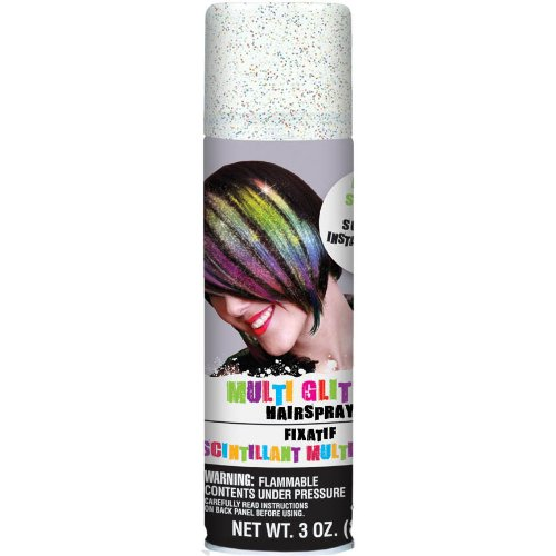 Amscan Glitter Hair Spray 3oz Multicolor]()