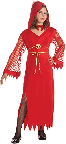 Child Girls Red Devilish Diva Witch Demon Costume Medium 8-10