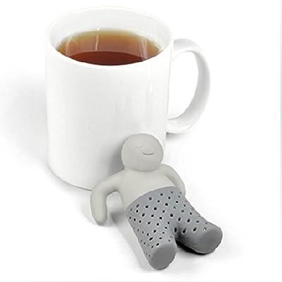 Miryo-Colador De Té diseño de ¨Señor Té¨de Silicona Infusor Colador de hojas Filtro de especias Bolsa Bolsita de té con forma de Hombre
