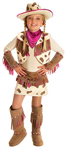 Princess Paradise Kids Rhinestone Cowgirl Costume, X-Small, Ivory/Tan -