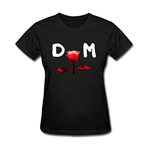 SAMMA Women's Depeche Mode Design Cotton T Shirt (Depeche Mode Music For The Masses Shirt)