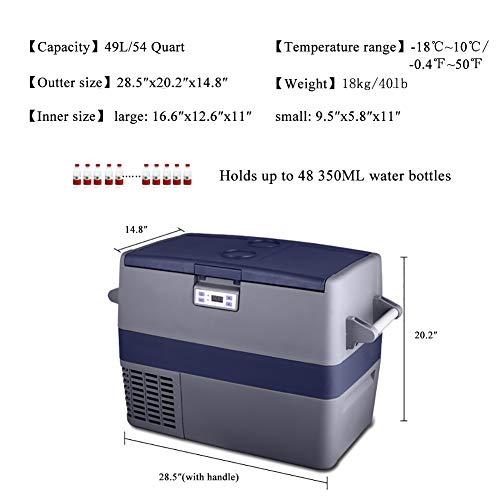 Smad 12v Refrigerator Portable Freezer for Camping Car