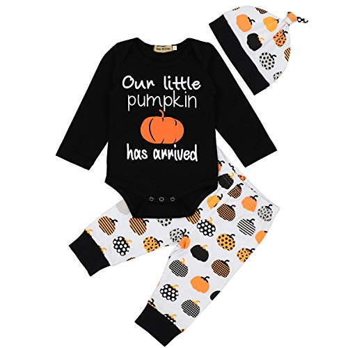 Thanksgiving Baby Boy Outfit My First Thanksgiving Bodysuit Romper + Pants Clothes Sets 3-6 Months Black ()