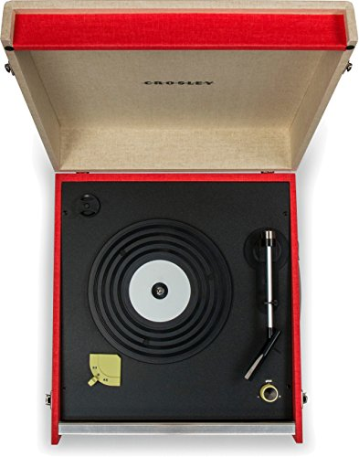 Crosley CR6233D-RE Dansette Bermuda Portable Turntable with Aux-in and Bluetooth, Red by Crosley (Image #6)
