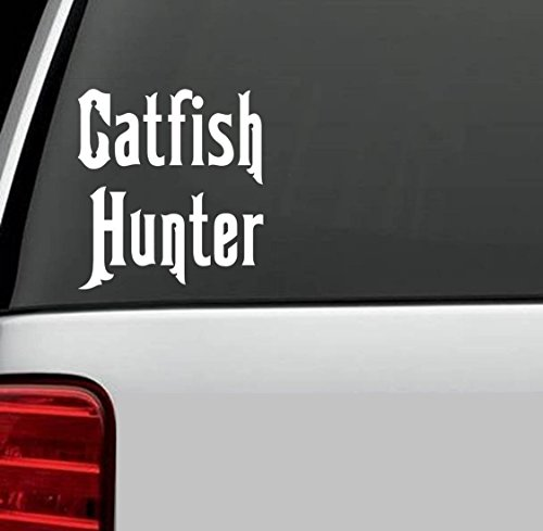 Catfish Hunter Fishing Window Vinyl Decal Sticker Laptop SUV Boat Trailer BIN Vinyl Sticker Decal for Car Truck SUV Window Vinyl Sticker