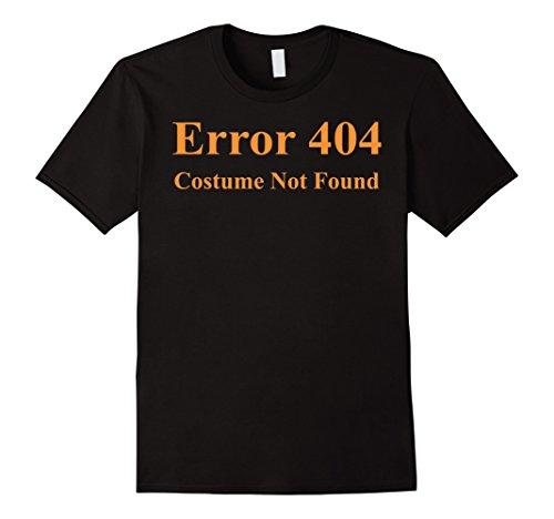 [Error 404 Costume Not Found Halloween T-Shirt - Male 2XL - Black] (Costume Not Found 404)
