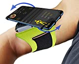 Running Armband,ZUYE Phone Armband 180°Rotatable Cell Phone Armband for Iphone X/7/7plus/8/8 plus with Key and Earphone Holder for Women Men Hiking Biking Walking Fit for Screen Size 4''- 6'' - Green