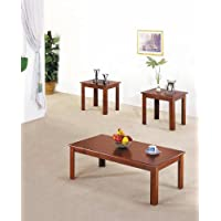 Acme 02163 3-Piece Meridian Coffee/End Table Set, Cherry Finish