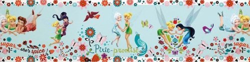 Graham & Brown DISNEY TINKERBELL PIXIE PROMISE SELF-ADHESIVE 5M WALLPAPER BORDER 90-040