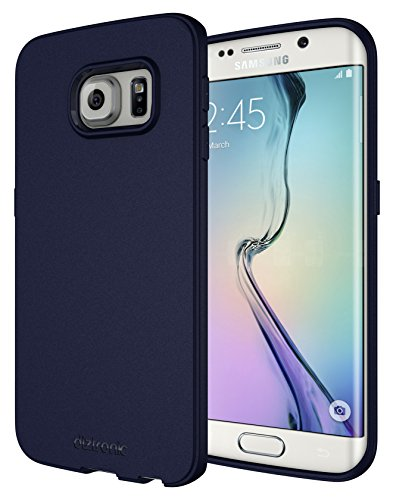 Galaxy S6 Edge Case, Diztronic Full Matte Flexible TPU Case for Samsung Galaxy S6 Edge - Dark Blue (S6E-FM-BLUE)