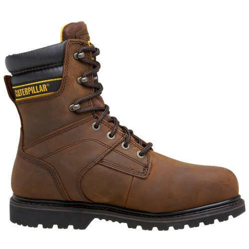 Brown Steel Waterproof Dark Men's Caterpillar Salvo Toe Boot 8