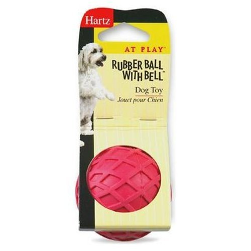Hartz Rubber Ball with Bell for Tiny Dogs 1 Count (Assorted Colors) (Pack of (Hartz Tiny Dog)