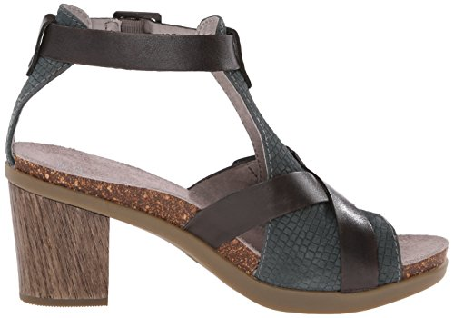 Dansko Womens Dominique Dress Sandalo Grigio Pelle