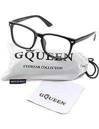 201582 Large Oversized Frame Horn Rimmed Clear Lens Glasses