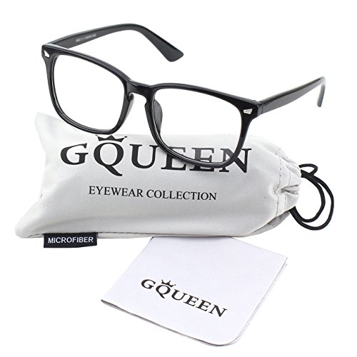 Glasses Queen 201582 Large Oversized Frame Horn Rimmed Clear Lens Glasses,Shiny (05 Glasses)