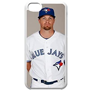 MLB Iphone 5C White Toronto Blue Jays cell phone cases&Gift Holiday&Christmas Gifts NBGH6C9125942