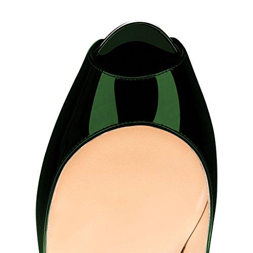 Pumput Osapuolen Kaltevuus Naiset Kengät Toe Siro Ajotasolla Prom Peep Us Green 4 Luistaa Fsj 15 Korkokengät Nro w4Iq8pxpB