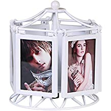 DLINMEI Multi-function Rotating Music Box Photo Frame Set Table Creative 5 Inch Photo Frame Children's Wedding Combination Photo Frame