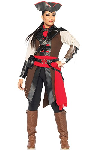 [Mememall Fashion Assassin's Creed Video Game Women Outfit Aveline Adult Costume] (Female Video Game Costumes)
