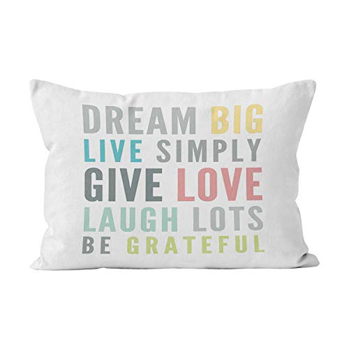 Suike Motivational Words to Love by Modern Typography Beauty Hidden Zipper Home Decorative Rectangle Throw Pillow Cover Cushion Case Boudoir 12x20 Inch One Side Design Printed Pillowcase