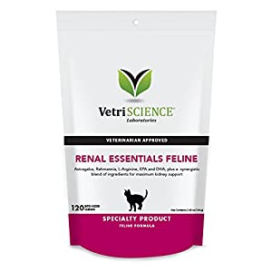 VetriScience Laboratories Renal Essentials, Kidney Health Support for Cats, 120 Bite-Sized Chews 14