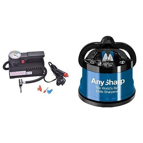 Filmer 36723 - Compresor de aire (12 V, 18 bar) y AnySharp - Afilador De Cuchillos: Amazon.es: Coche y moto