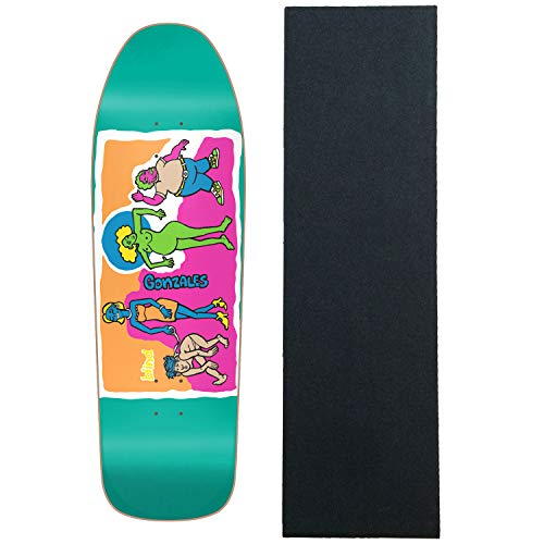 Blind Re-Issue Skateboard Deck Screen Printed Gonz Colored People Blue with Grip