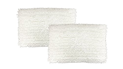 """Raphael Rozen Elegant Bath Set of 2 Microfiber Shag Bath Mat, Non slip Backing, Ultra Soft, Extremely absorbent and Fast Drying. Durable, Easy Cleaning, Machine Washable. 5 White, 17""""x24"""" - Super soft to the touch, this bathroom rug is designed to quickly absorb water, keeping your bathroom floors dry and clean. The mat's construction, with thousands of individual microfiber bristles, allow the water held in the mat to dry quickly, leaving the mat smelling and feeling clean, dry, and always free of any mold or mildew. The Sturdy design will keep the mat looking the same even after you just got out of the shower Features a non-skid, no-slip backing to keep the bath mat in place, even when wet. The durable non-slip backing will not fade, keeping the mat in place for years. keeping wet feet off of slipper tile and off of a slippery bathroom rug. 100% machine washable for easy care. Simply toss the whole mat into the washing machine, wash cold, hang to dry or air dry flat. The super soft microfiber material will not shrink or turn rough after the wash, keeping your bathroom rug in the same shape as the day you bought it. - bathroom-linens, bathroom, bath-mats - 41fSY17TfAL -"""