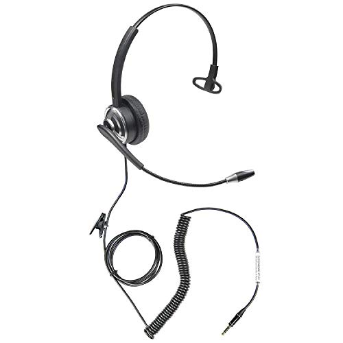 (ECS WordCommander 3.5mm 4-Pole Dictation Headset for Smartphones and Tablets)