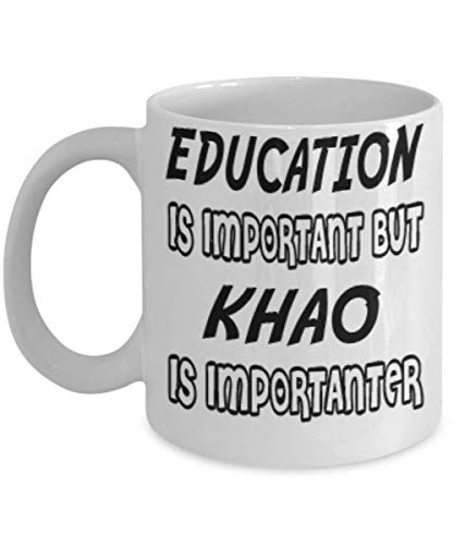 Awesome Khao Gifts 11oz Coffee Mug - Edication Is Important - Best Inspirational Gifts and Sarcasm Cats Lover ak1043]()