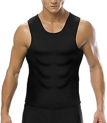 SHANGXIAN Hombres Body Shaper Adelgazante Chaleco Camisa Apretada Cofre de Compresion Control de la Panza Ropa Interior Camiseta,S: Amazon.es: Deportes y aire libre