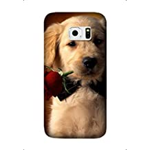 Samsung Galaxy S7 Edge Case, [Drop Protection] Scratch Resistant Perfect-Fit Shock Absorbing Non-Slip Animal Dog Hard Armor Case