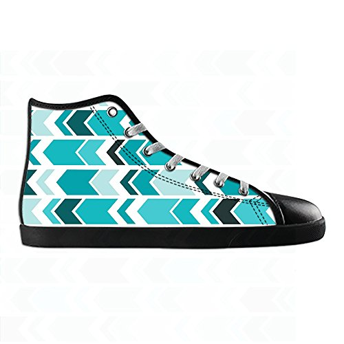 Custom pfeil muster Womens Canvas shoes Schuhe Lace-up High-top Footwear Sneakers C