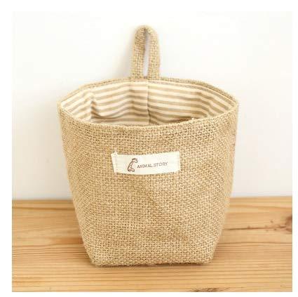 SeedWorld Storage Baskets - Wholesale Zakka Style Storage Box Jute with Cotton Lining Sundries Basket Mini Desktop Storage Bag Hanging Bags 1pcs/lot 60861 1 -