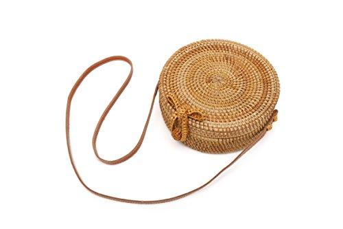 paille sac ronde épaule porté Belle main Paille sac à plage 20cm pour Sac de en Vannes femme wxnrvn7