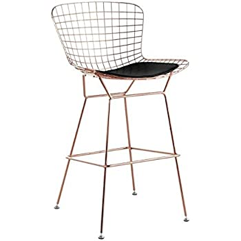 Amazon Com Bertoia Style Wire Counter Stool In Rose Gold