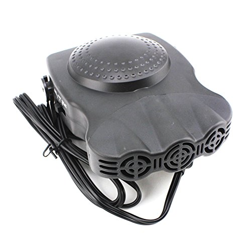 Windshield Defroster Heater, H-COME 12V 150W Noise-Cancelling Car Heater Windshield Defroster Equipped with Autos Dashboard Cigarette Plug &5 Feet Cable (Model-1)