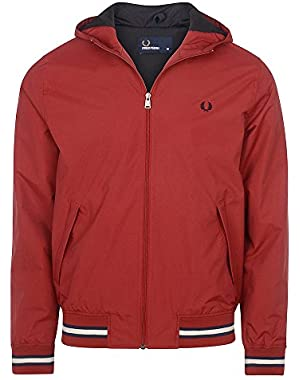Men's Rich Red Hooded Brentham Jacket