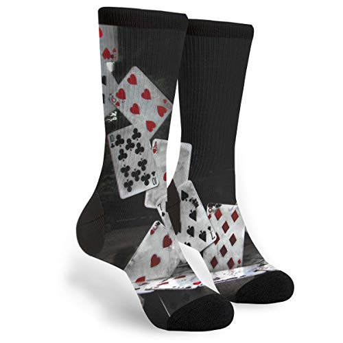 (Abstract Castle Of Cards Poker Novelty Socks For Women & Men One Size - Gifts)