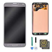 KR-NET Display LCD Touch Screen Digitizer Assembly for Samsung Galaxy S5 Neo G903W/G903F/G903FD w/Home Button + Repair Tools (Silver)