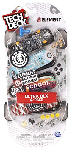 Tech Deck Fingerboard - Tech Deck Element Skateboards Ultra DLX Fingerboard 4 Pack